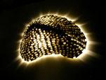 Lightling als Wandobjekt mit LED-Hintergrundbeleuchtung