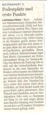 Freie Presse, Penig, Lunzenau, 2. Platz, Toni Riedel