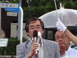 支援を訴える小村県委員長