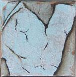 Nr. 2009-HO-004: 15x 15 cm, Papiercollage, Acryl auf Leinwand