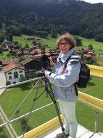 unterwegs mit der fotokamera. hier auf dem serneuser kirchturm