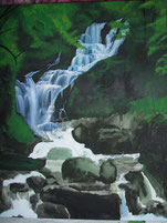 Waterfall with acrylics