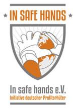 """Freiwilligen-Zentrum Augsburg - Logo """"In safe hands"""""""