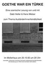 Goethe war ein Türke, Mollerhaus, 20.10.1992