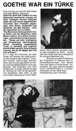 Goethe war ein Türke Kinomagazin Saarbrücken 10/92