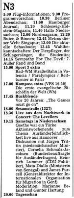 Goethe war ein Türke Hannoversche Allgemeine Zeitung 5.9.1992 Programm N3