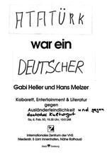 Goethe war ein Türke IZ Duisburg 6.2.1993