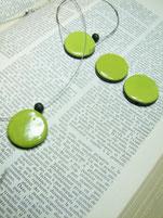 Perles céramique raku verte atelier simplement terre