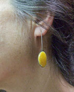 pendant d'oreille jaune