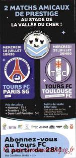 Affichette  Tours-PSG  2007-08