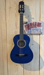 Kirkland MD  3/4 - Kinderkonzertgitarre - blau, Akustik Kindergitarre, Konzertgitarre klein - blau