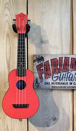 Sopranukulele Rot, Ukulele Sopran, Farbe: Rot, Postleitzahlenbereich PLZ 75...,  Musik Fabiani Guitars 75365 Calw, Nagold, Herrenberg, Weil der Stadt