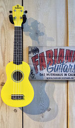 Sopran Ukulele, Zitronengelb, Yellow Ukulele, Music Store - Fabiani Guitars - 75365 Calw, Renningen, Weil der Stadt, Stuttgart