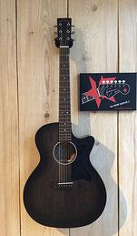 Sigma GMC STE BKB, Westerngitarre Farbe: black/schwarz- transparent, Cutaway, PreAmp System inkl. Stimmgerät, Gitarrenfachgeschäft in 75365 Calw