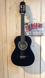 Kirkland MD  3/4 - Kinderkonzertgitarre, Kinder Akustikgitarre 3/4 schwarz