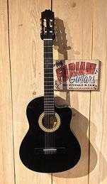 Kirkland MD 11 CEQ, Elektrische Konzertgitarre schwarz/black, E- Konzertgitarre mit Cutaway, Tonabnehmer, Fabiani Guitars Calw