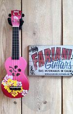 Sopran Ukulele Hawai, lustige Kinder- Sopran Ukulele, funny Ukulele Sopran, Fabiani Guitars 75365 Calw