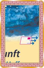 Orakelkarte - mit Pfeilen auf den Karten