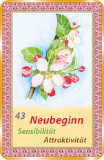 Orakelkarte - Zeitkarte 43, der Frühling