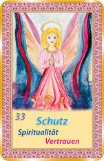 """Orakelkarte - """"Schutz"""" mit speziellen spirituellen Botschaften aus dem Universum."""