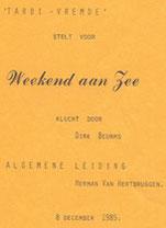 1985 - Weekend aan zee