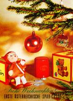 Poster/Plakat: Weihnachtsdorf mit Engel.