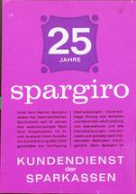 25 Jahre Spargiro  - Kundendienst der Sparkassen (Plakat DinA4 1963).