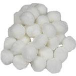 Pompoms weiß, 20 mm