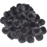 Pompoms schwarz, 20 mm