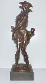 Hühnerdieb, H.J. Pagels, 1910, Bronze, Aachen, 33,0 cm , € 850,00
