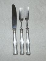 Vorspeisebesteck, 3 Teile, 13 Lot, 1863 Österreich- Ungarn, Rostfreie Klinge, € 65,00