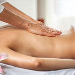 séance de massage dorsal