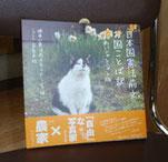 ▲本になった「日本国憲法前文お国ことば訳」。全国の猫たちの平和な表情にも癒されます。