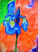 gemaltes Bild Blumen © Christiane Ros