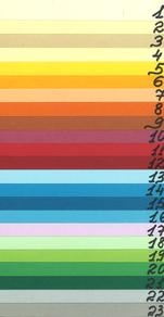 Umschlagfarben für die Klebebindung, Karton 250g/m² bedruckbar, ohne Lederprägung