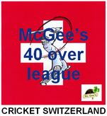 McGee's 40 over cricket league
