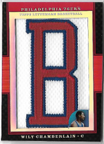WILT CHAMBERLAIN / Letterman Patch - No. LP-WC  (#d 5/5)