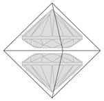 ダイヤモンド原石Round Brilliant Cut図