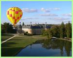 Survol en montgolfiere du château de Saint-Fargeau