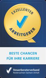 "Siegel ""Exzellenter Arbeitgeber"" Schröder + Partner Steuerberater Bruchhausen-Vilsen"