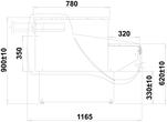 Dimensions meuble caisse canalisable avec vitrines réfrigérées