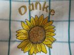 Sonnenblume Danke