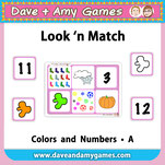 EFL kindergarten numbers and colors game