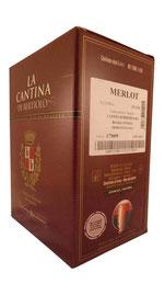 Merlot im BiB, Italien, Cantina Bertiolo, trocken, leicht, wenig Alkohol, Rotwein