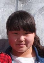ジュラさん(12歳) 阿拉善左旗第二実験小学校