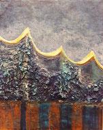 Elbphilharmonie abstrakt gemalt