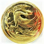 K24 純金 平成2年 天皇陛下御即位記念 10万円金貨 コイン