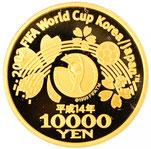 K24 純金 2002 FIFA ワールドカップ 1万円金貨