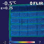 Infrarotaufnahme Aluminium Sektionaltor Bautiefe 60 mm