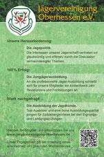 Die Jägervereinigung Oberhessen e.V. stellt sich vor
